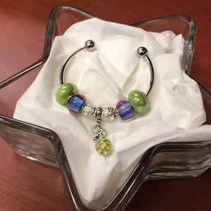 Jewelry - Custom Crafted Beaded Bracelet- multi color